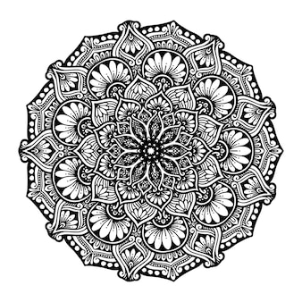 Mandalas round para colorear libro. adornos redondos decorativos.
