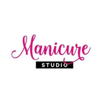 Manicure studio lettering