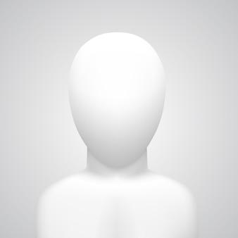 Maniquí de vector sobre fondo blanco arte blanco. ilustración vectorial
