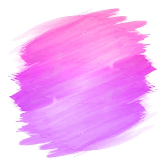 Mano abstracta dibujar trazo de diseño acuarela rosa