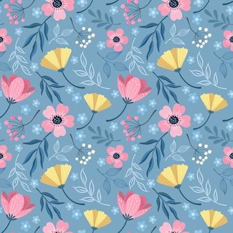 Mano colorida dibujar flores diseño de patrones sin fisuras para papel tapiz textil tela.