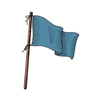Mano dibujada bandera aislada sobre fondo blanco