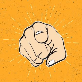 Mano dibujada boceto de gesto de la mano