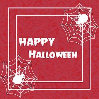 Mano dibujada fondo de patrón de halloween