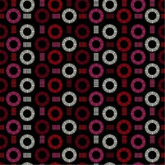 Mano dibujada línea círculo redondo forma vector de patrones sin fisuras
