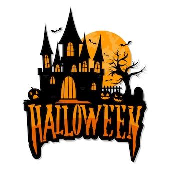 Mano dibujada vector de felicitación de halloween