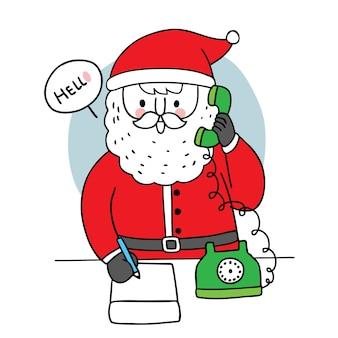 Mano dibujar dibujos animados lindo feliz navidad