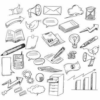 Mano dibujar diseño de boceto de garabatos de idea de negocio