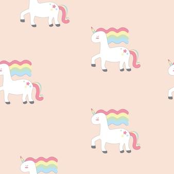 Mano dibujar unicornio