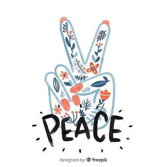 Mano haciendo el símbolo de la paz