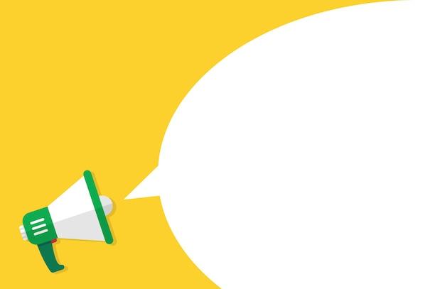 Mano sostiene un megáfono para banner publicitario