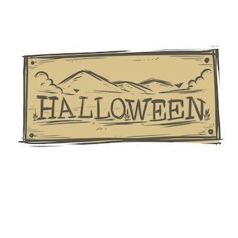Mano de tipografía de halloween estilo dibujado