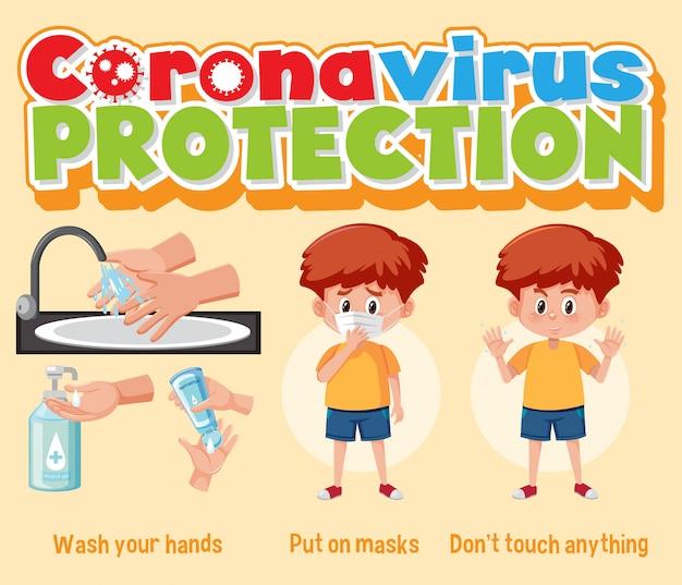 Manos limpias protegen el virus corona