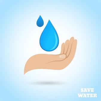 Las manos protegen el agua