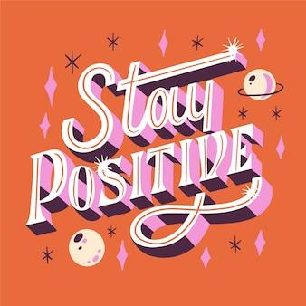 Mantén un mensaje positivo con elementos de brillo.