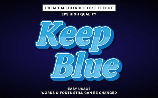 Mantener el efecto de texto editable azul