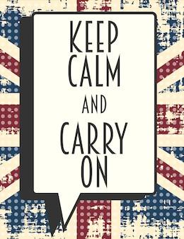 Mantenga la calma