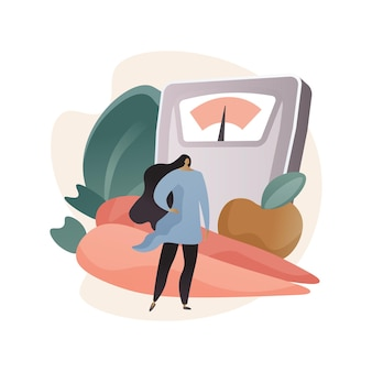 Mantenga una ilustración de concepto abstracto de dieta saludable