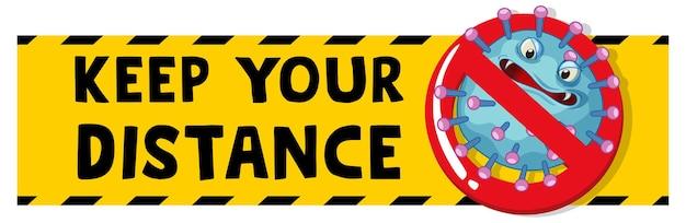 Mantenga su banner de distancia