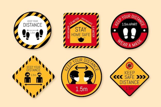 Mantenga su colección de letreros de distancia