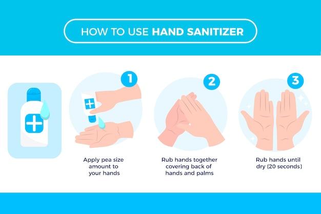 Mantenga sus manos sanas con desinfectante para manos