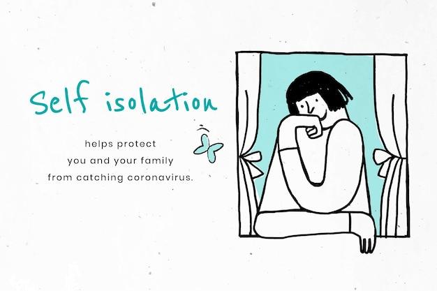 Manténgase aislado para protegerse y proteger a los demás. esta imagen es parte de nuestra colaboración con el equipo de ciencias del comportamiento en hill + knowlton strategies para revelar qué mensajes de covid-19 resuenan en