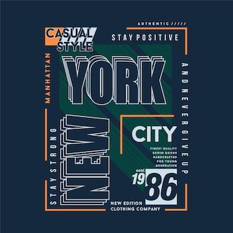 Mantente fuerte nueva york marco de texto gráfico camiseta tipografía ilustración vectorial casual