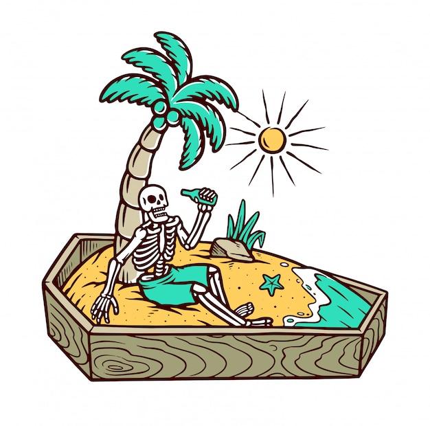 Mantente tranquilo hasta que mueras ilustración