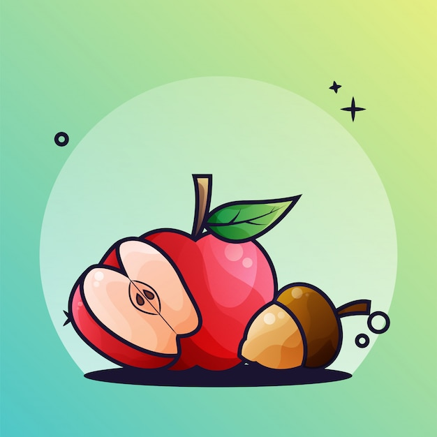 Manzana y bellota