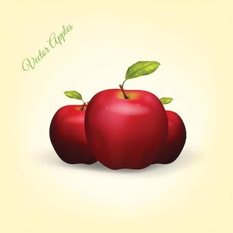 Manzanas vectoriales realistas