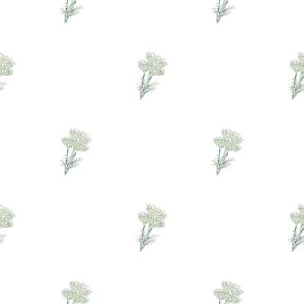 Manzanilla de patrones sin fisuras sobre fondo blanco. hermoso adorno de flores lindas de verano.