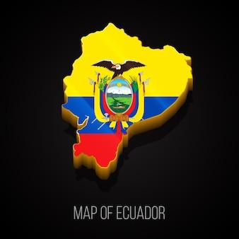Mapa 3d de ecuador