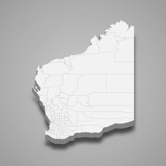 Mapa 3d del estado de australia