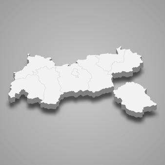 Mapa 3d del estado de austria