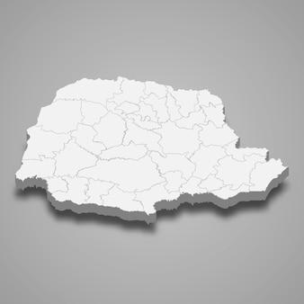 Mapa 3d del estado de brasil