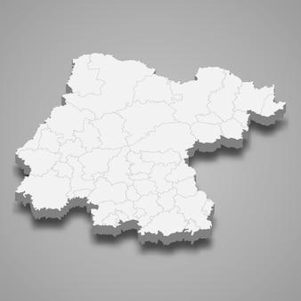 Mapa 3d del estado de guanajuato de méxico