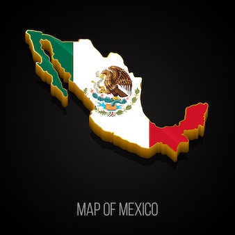 Mapa 3d de méxico