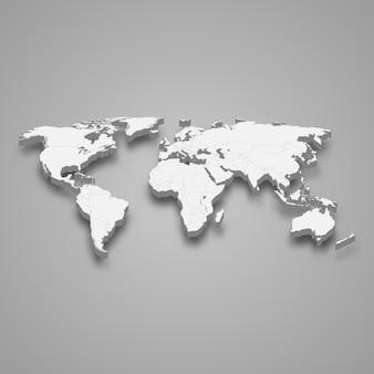 Mapa 3d del mundo