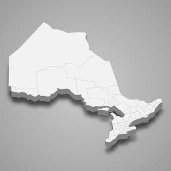 Mapa 3d de la provincia de canadá