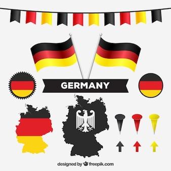 Mapa alemán y colores nacionales