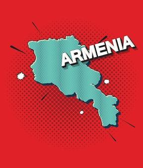 Mapa de arte pop de armenia