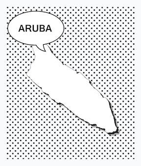 Mapa de arte pop de aruba