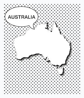 Mapa de arte pop de australia