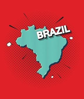 Mapa de arte pop de brasil