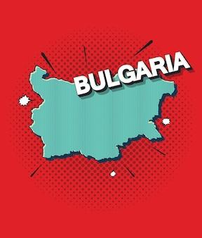 Mapa de arte pop de bulgaria