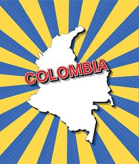Mapa de arte pop de colombia