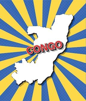 Mapa del arte pop del congo