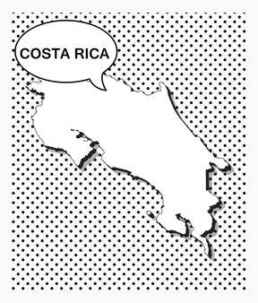 Mapa de arte pop de costa rica