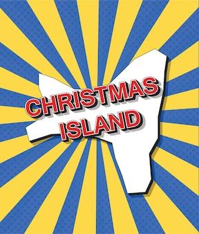 Mapa de arte pop de la isla de navidad