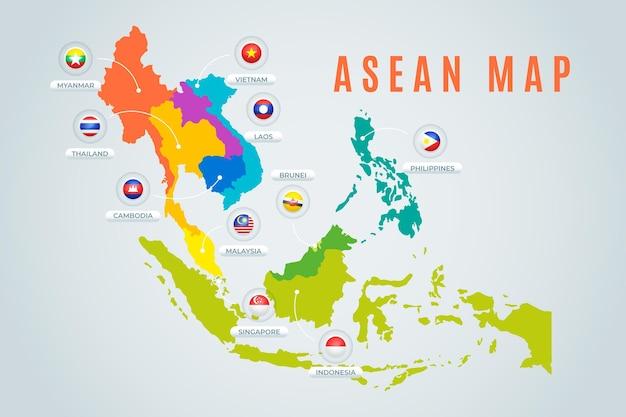 Mapa de la asean